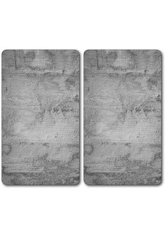 """KESPER for kitchen & home Schneide -  und Abdeckplatte """"Beton"""", ESG - Sicherheitsglas, (Set, 2 - tlg.) kaufen"""