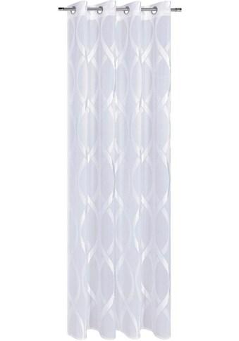 Gerster Vorhang »Edina«, HxB: 235x140, Ösenschal mit modernem Chenillemuster kaufen