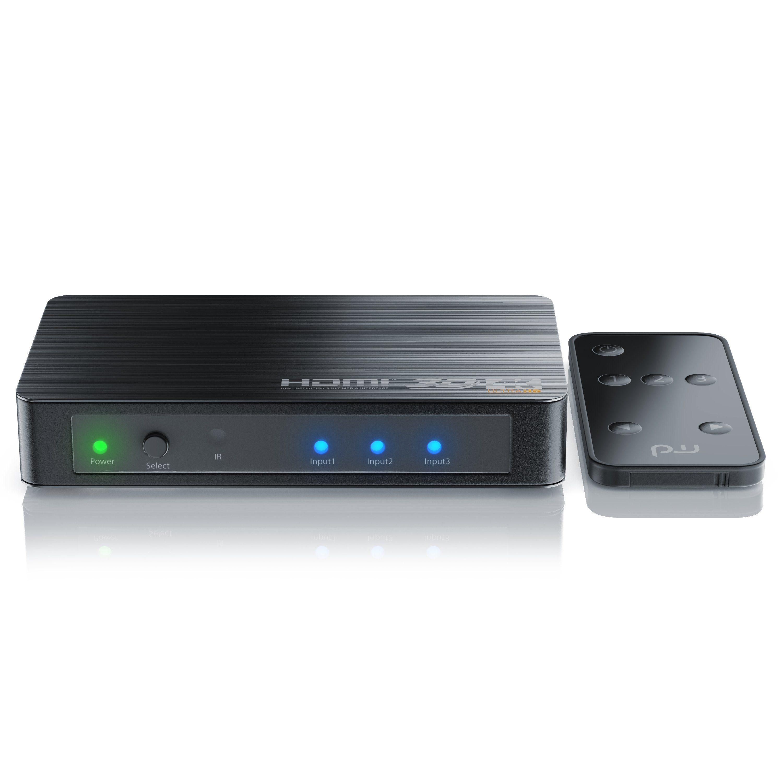 Primewire Ultra HD 4k 3-Port HDMI Umschalter inkl. Fernbedienung »3x HDMI IN / 1x HDMI OUT«
