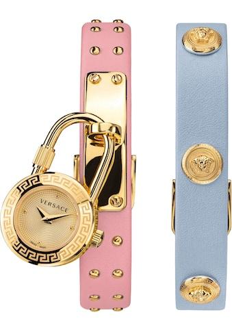 Versace Schweizer Uhr »Medusa Lock Icon, VEDW00219« (Set, 3 tlg., mit zusätzlichem Lederband) kaufen