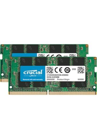 Crucial Laptop-Arbeitsspeicher »32GB Kit (2 x 16GB) DDR4-2666 SODIMM« kaufen