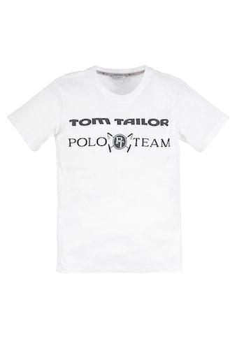 TOM TAILOR Polo Team T-Shirt, mit Logodruck kaufen