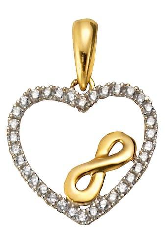 Firetti Herzanhänger »Herz mit Infinity - Unendlichkeitsschleife« kaufen