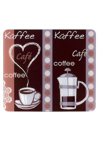 """WENKO Schneide -  und Abdeckplatte """"Kaffeeduft"""", Glas, (1 - tlg.) kaufen"""