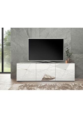 LC Lowboard »Vittoria Lowboard«, Breite 181 cm, Front mit Siebdruck und Spiegel kaufen