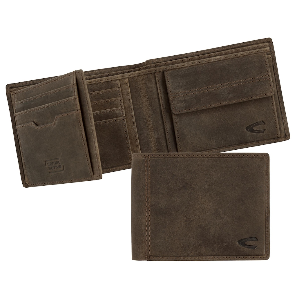 camel active Geldbörse »VIETNAM«, aus Leder mit RFID-Block für mehr Sicherheit