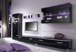 spar set wohnwand 5 tlg auf rechnung bestellen. Black Bedroom Furniture Sets. Home Design Ideas