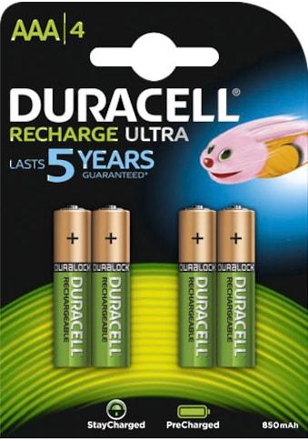 Duracell »Recharge Ultra Micro AAA HR03« Batterie (4 Stück) kaufen