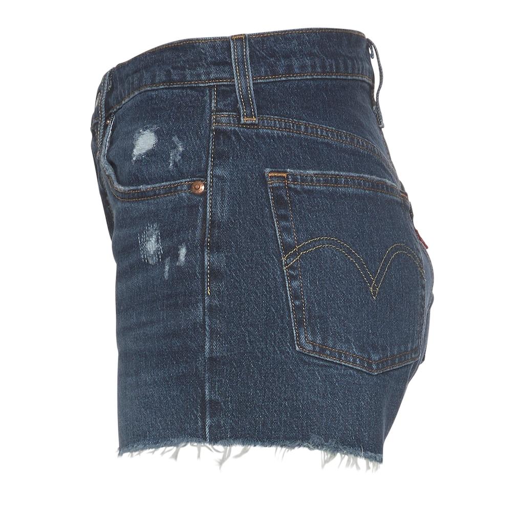 Levi's® Shorts »501 Original Short«, mit offenem Fransen-Saum