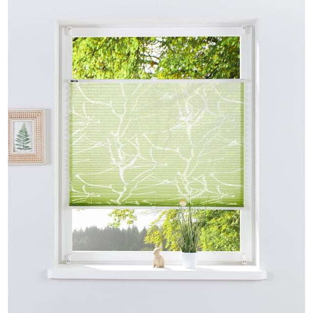 my home Plissee »ANNA«, Lichtschutz, ohne Bohren, verspannt, Ausbrenner