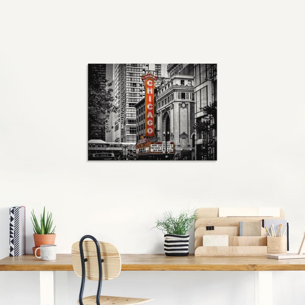 Artland Glasbild »Chicago I«, Amerika, (1 St.)