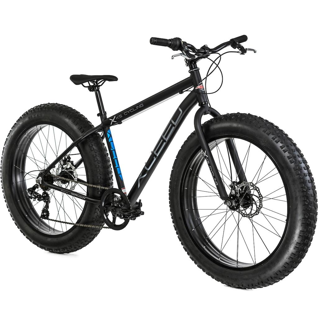 KS Cycling Fatbike »Xceed«, 7 Gang, Shimano, Tourney Schaltwerk, Kettenschaltung