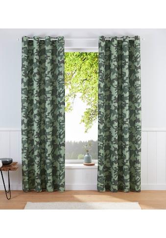 Vorhang, »Camouflage«, Bruno Banani, Ösen 1 Stück kaufen
