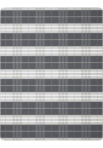 BIEDERLACK Wohndecke »Continous Grey«, klassisches Karo kaufen