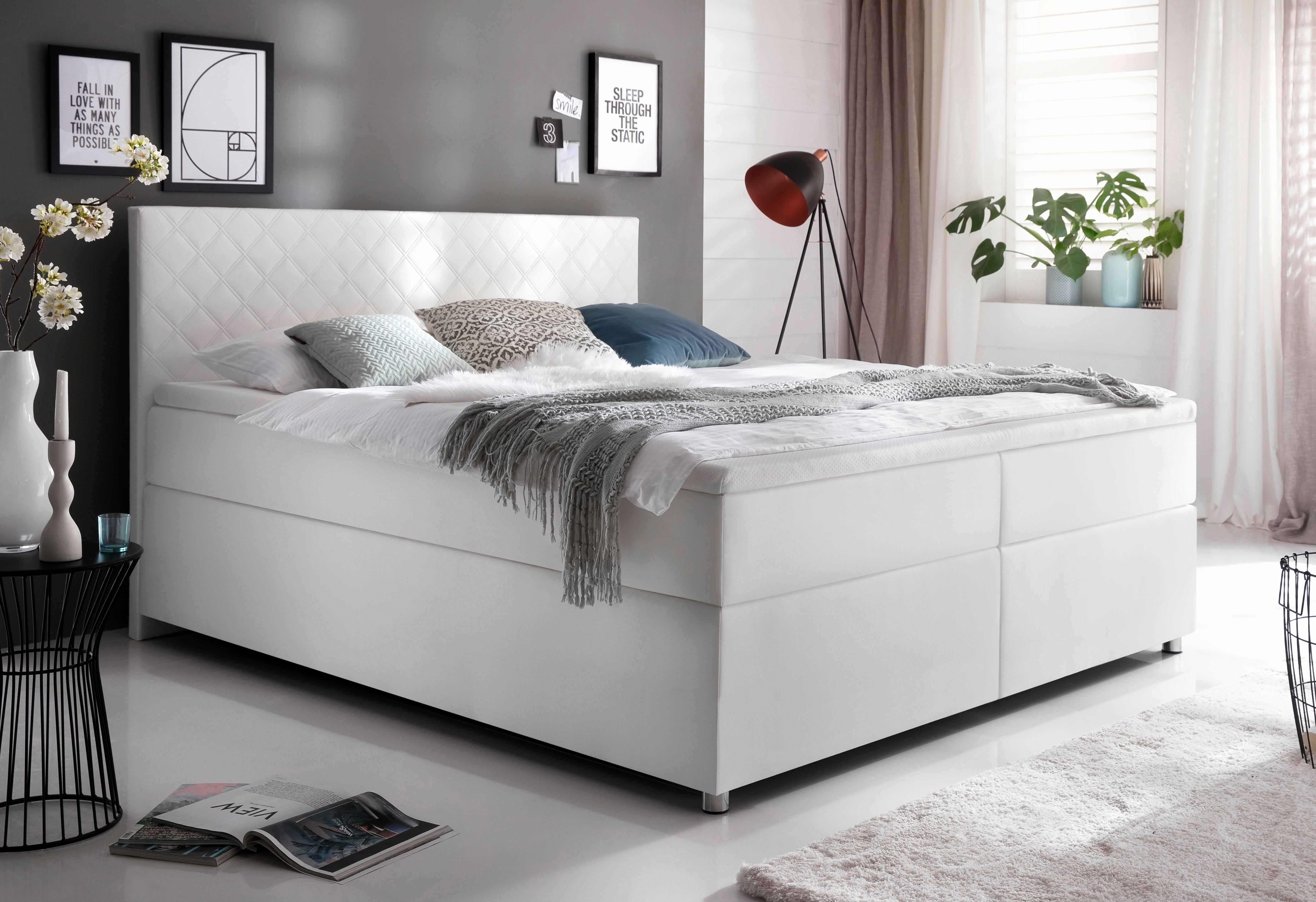 meise m bel boxspringbett in kunstleder auf rechnung kaufen. Black Bedroom Furniture Sets. Home Design Ideas