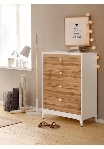 Home affaire Kommode, Kjell» mit vier Schubladen, Breite 80 cm kaufen