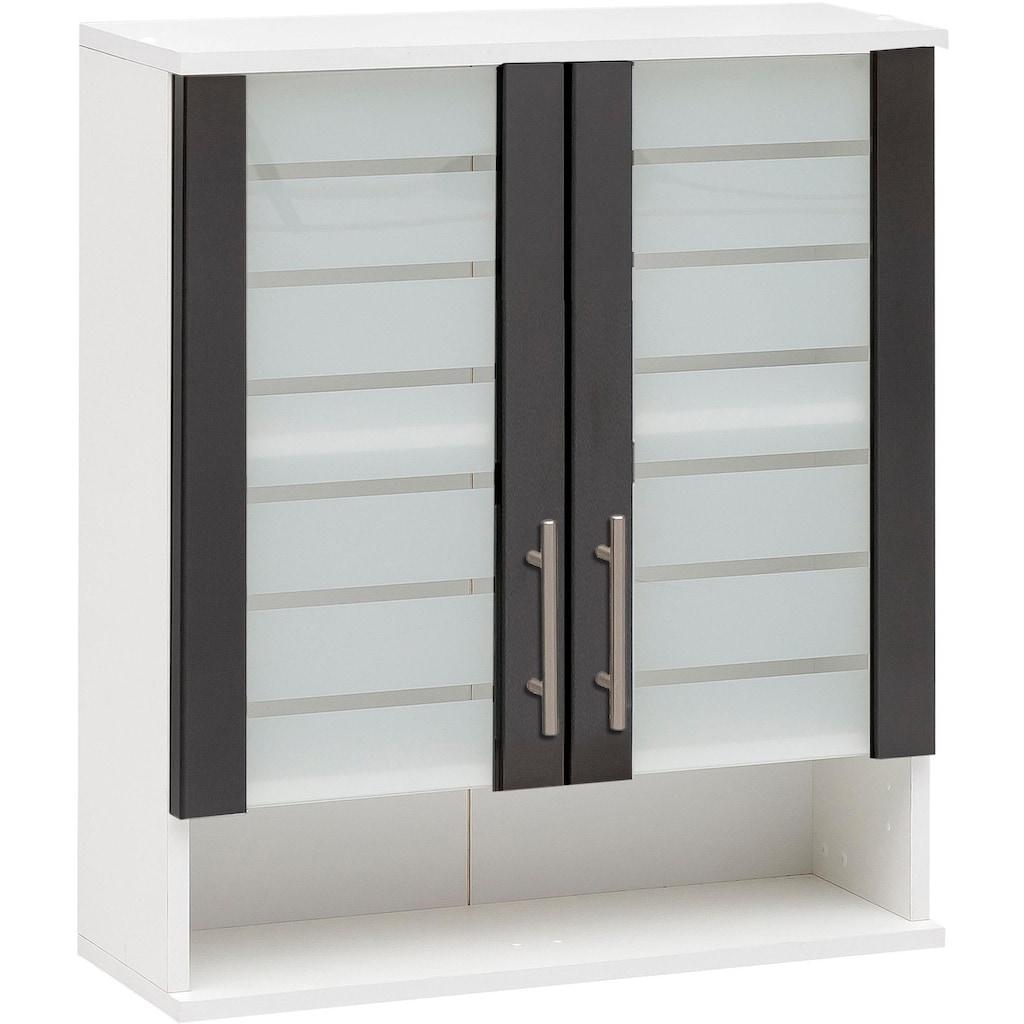 Schildmeyer Hängeschrank »Nikosia«, Breite 60 cm, mit Glastüren, hochwertige MDF-Fronten, Metallgriffe
