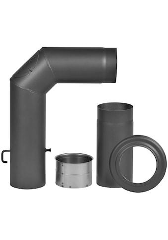 FIREFIX Rauchrohr - Set 4 - tlg., ø 150 mm, Stahlblech, mit Verlängerung kaufen