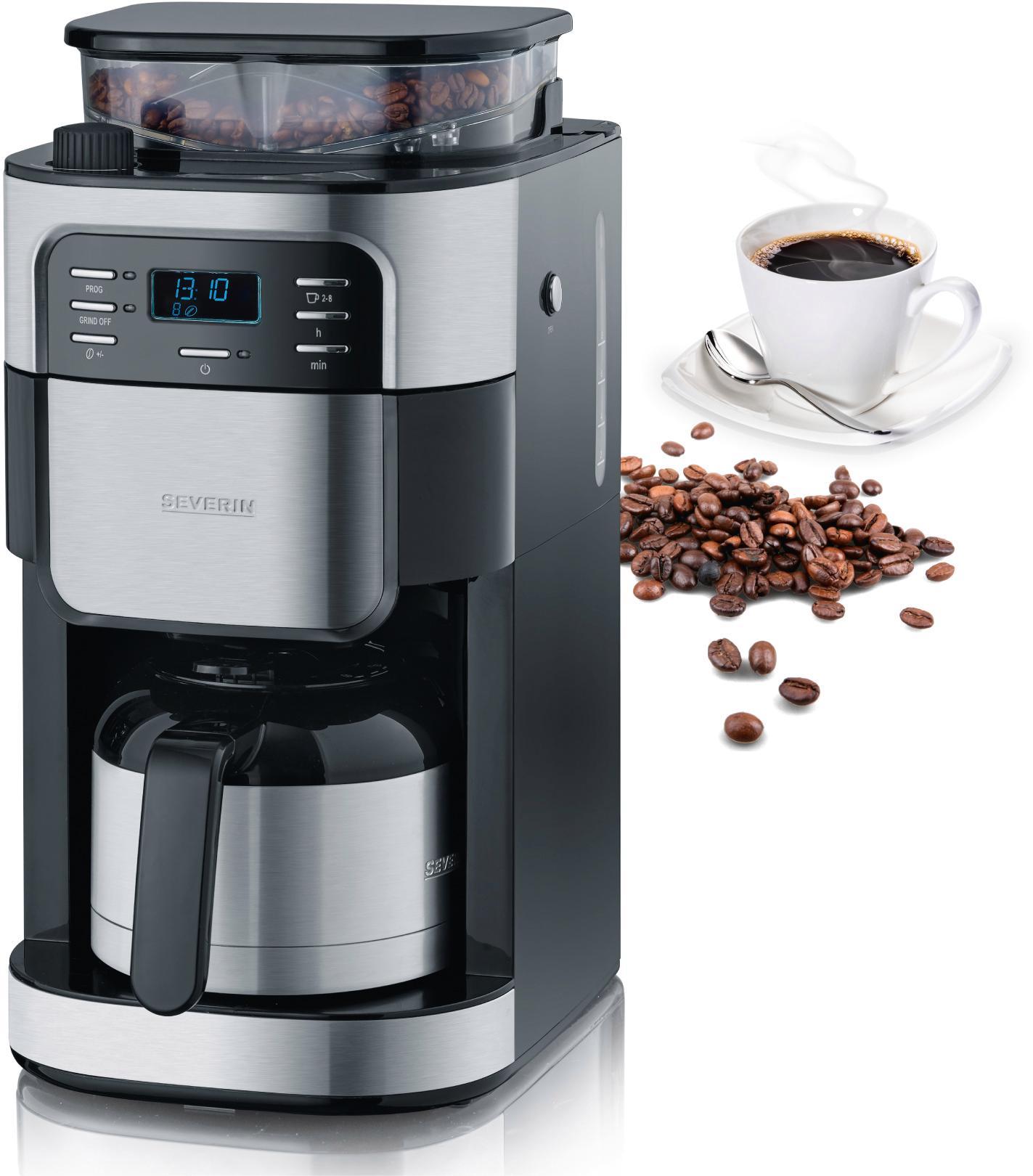 severin kaffeemaschine mit mahlwerk ka 4812 permanentfilter 1x4 auf rechnung bestellen