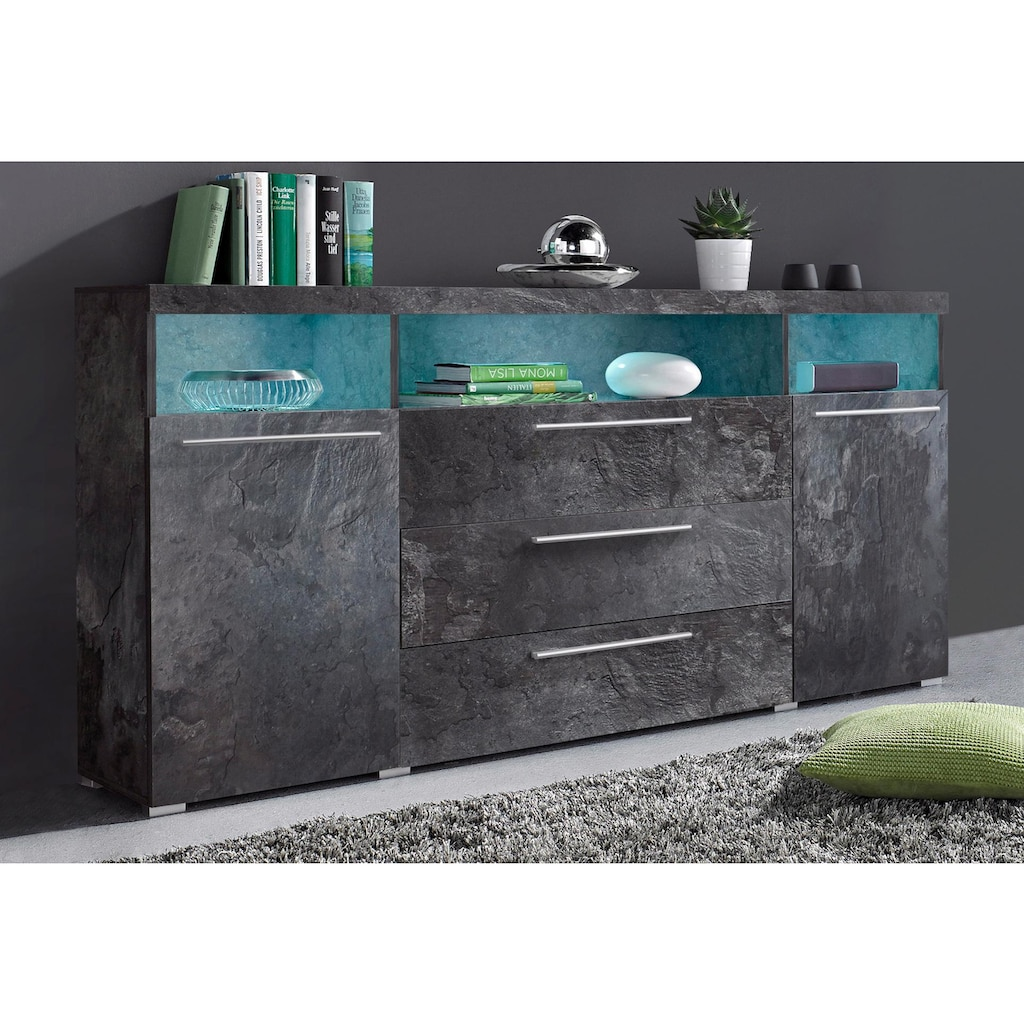 Helvetia Sideboard »India«, Breite 182 cm