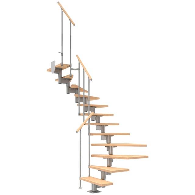 DOLLE Mittelholmtreppe »Cork«, Birke, 11 Stufen, versch. Ausführungen