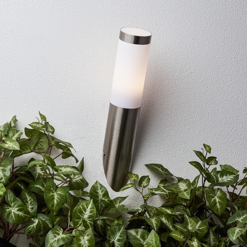 Brilliant Leuchten Außen-Wandleuchte, E27, Adonia LED Außenwandfackel edelstahl