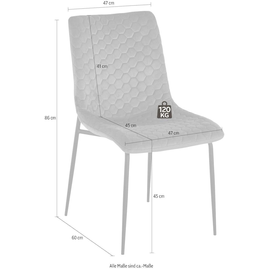 INOSIGN Esszimmerstuhl »Dounja«, mit weichem, pflegeleichtem Samtvelours Bezug, Sitzhöhe 45 cm