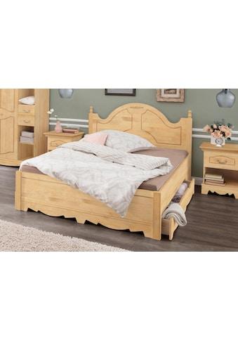 Home affaire Bett »Romantika«, aus massiver Kiefer, inklusive 2 Bettschubladen kaufen