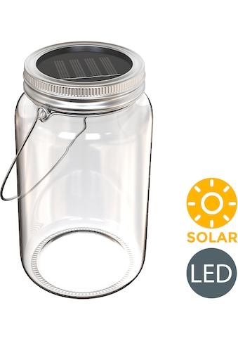 B.K.Licht LED Laterne »Solaris-Mini«, LED-Board, Warmweiß, LED Solar-Licht Lampe Sonnen-Leuchte Licht Deko-Beleuchtung Glas Tisch Garten kaufen