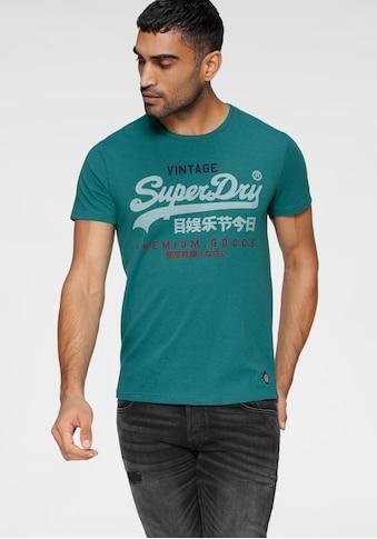 Superdry Rundhalsshirt »VL TRI TEE 220« kaufen