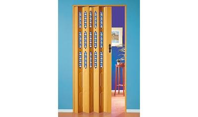 Kunststoff - Falttür »Dekor 1 Halbrund«, BxH: 88,5x202 cm, mit dekorativem Motiv im Fenster kaufen