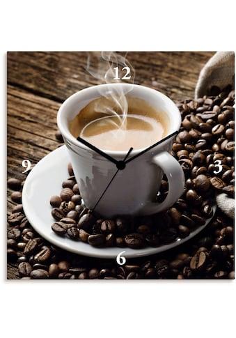 Artland Wanduhr »Heißer Kaffee - dampfender Kaffee«, lautlos, ohne Tickgeräusche,... kaufen