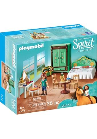 "Playmobil® Konstruktions - Spielset ""Luckys Schlafzimmer (9476), Spirit Riding Free"", Kunststoff kaufen"