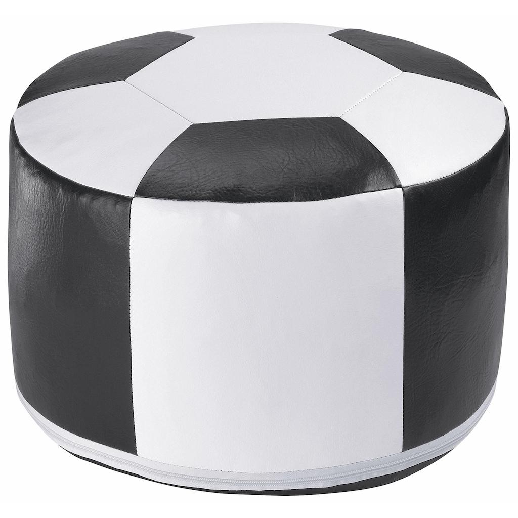 Home affaire Pouf »Fußball«, Sitzkissen