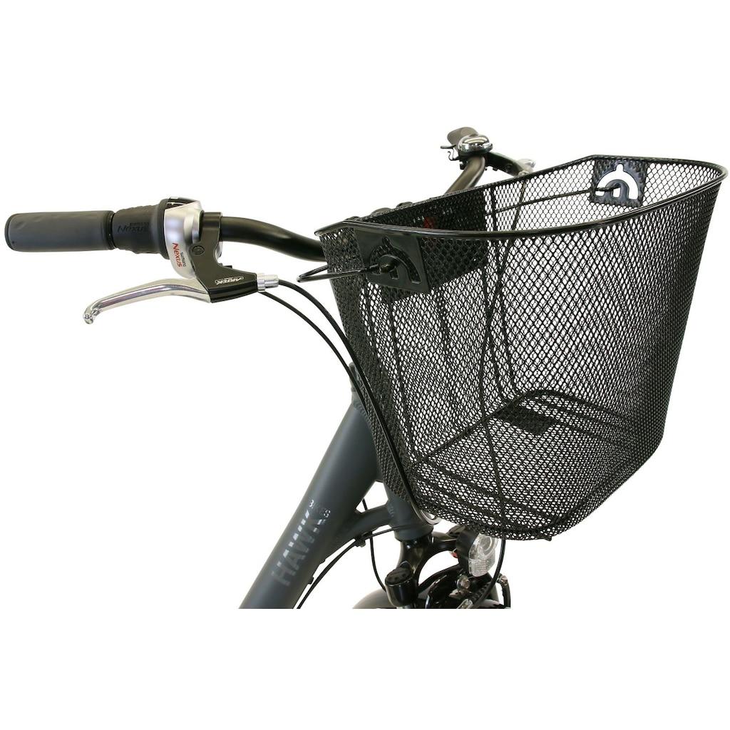 HAWK Bikes Cityrad »HAWK City Wave Deluxe Plus Grey«, 7 Gang, Shimano, Nexus Schaltwerk