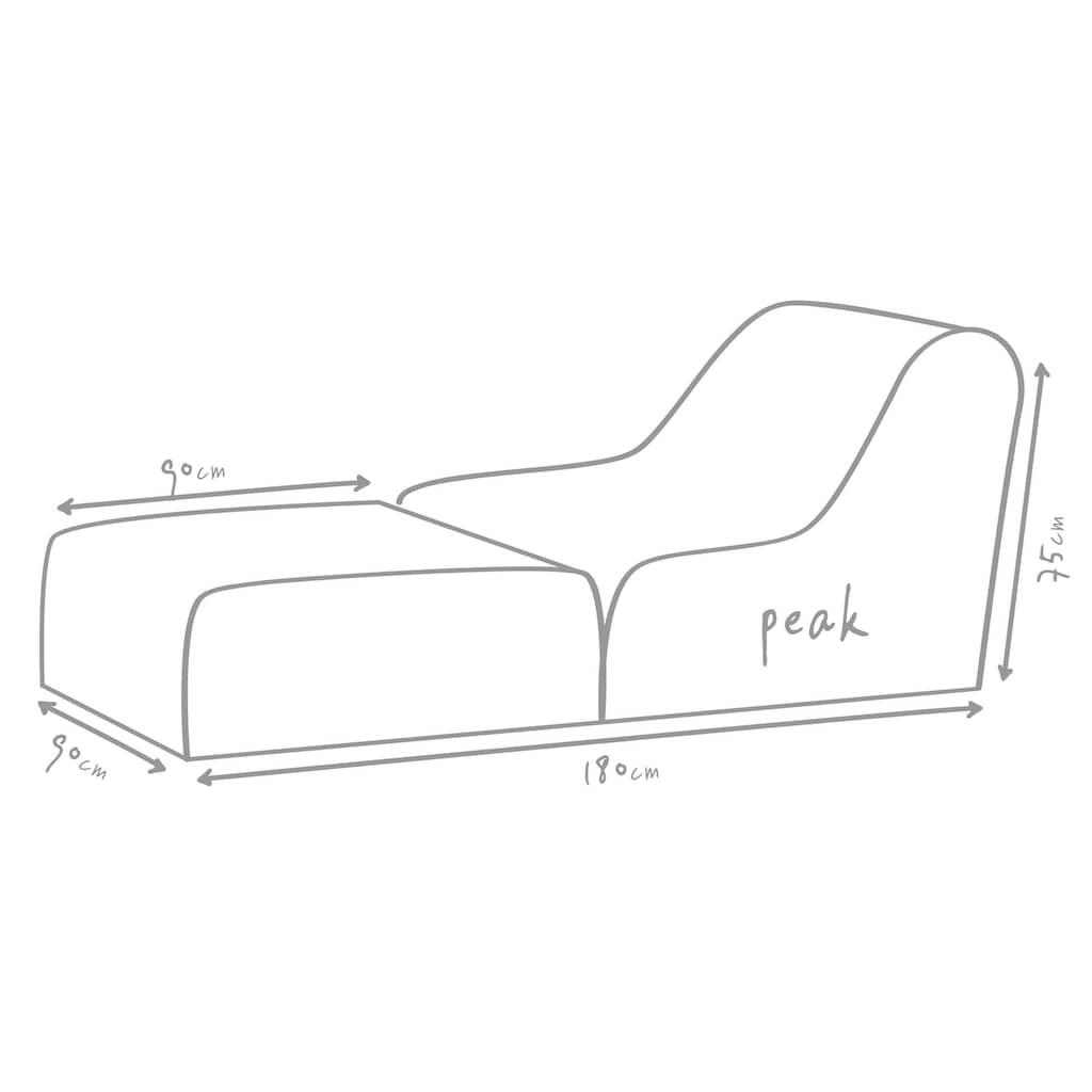 OUTBAG Sitzsack »Peak Plus«, wetterfest, für den Außenbereich, BxT: 90x180 cm