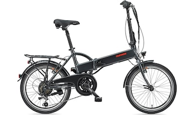 Telefunken E - Bike »Kompakt F820«, 6 Gang Shimano Tourney Schaltwerk, Heckmotor 250 W kaufen
