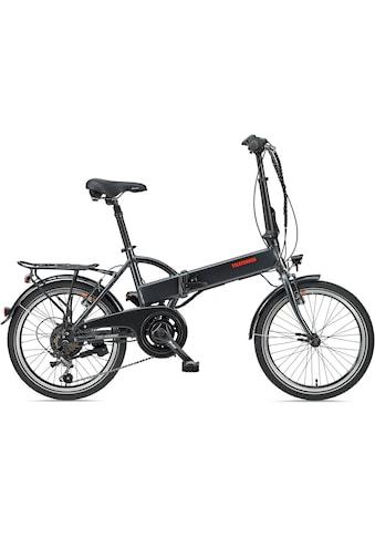 Telefunken E-Bike »Kompakt F820«, 6 Gang, Shimano, Tourney, Heckmotor 250 W kaufen
