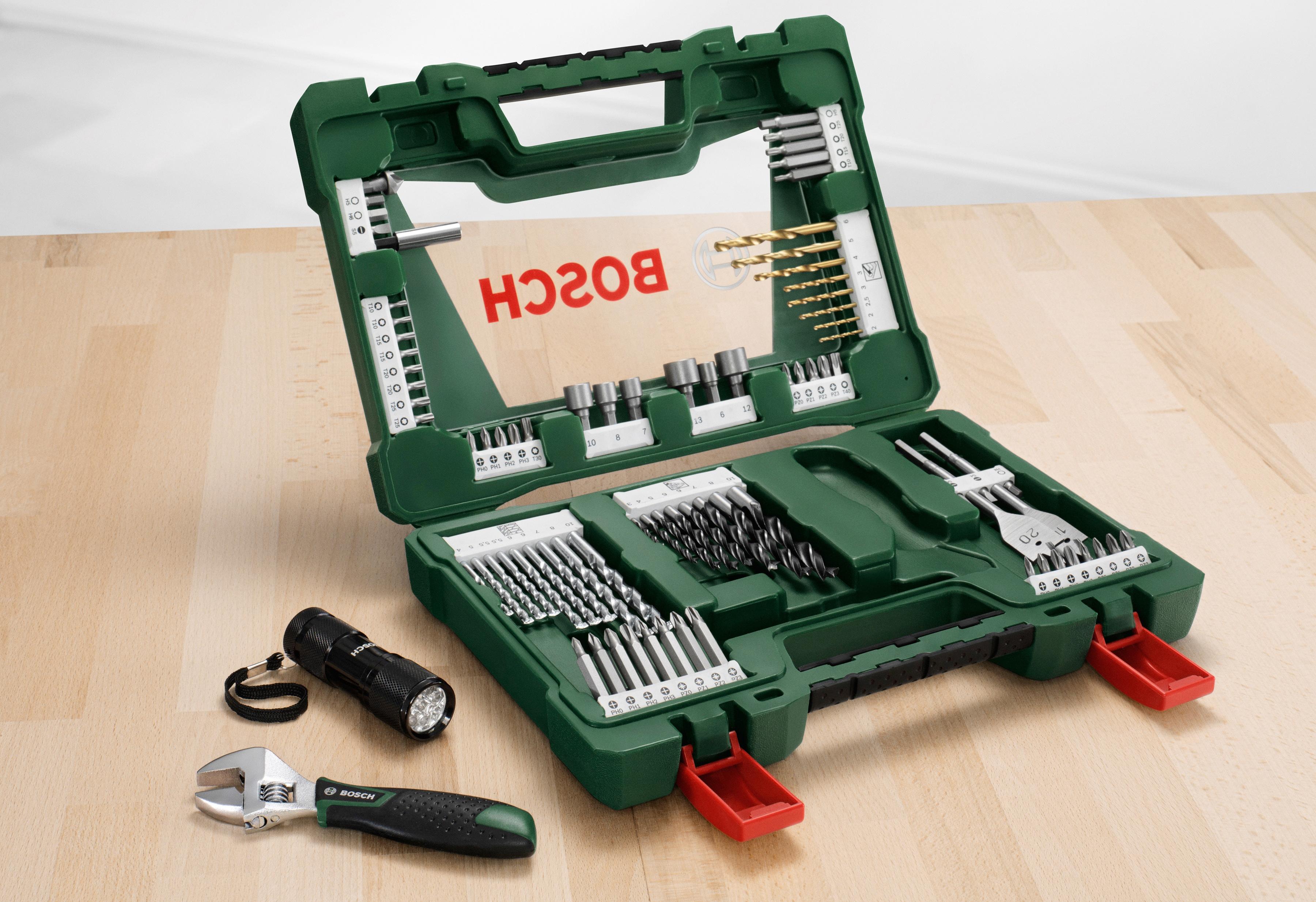 BOSCH Bohrer- und Bit-Set »V-Line Titanum«, 83-tlg.   Baumarkt > Werkzeug > Werkzeug-Sets   Grün   Bosch