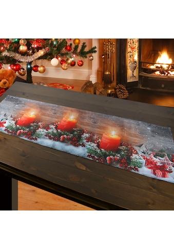 Delindo Lifestyle Tischläufer »Kerzenschein«, gedrucktes Design, blickdichter Stoff,... kaufen