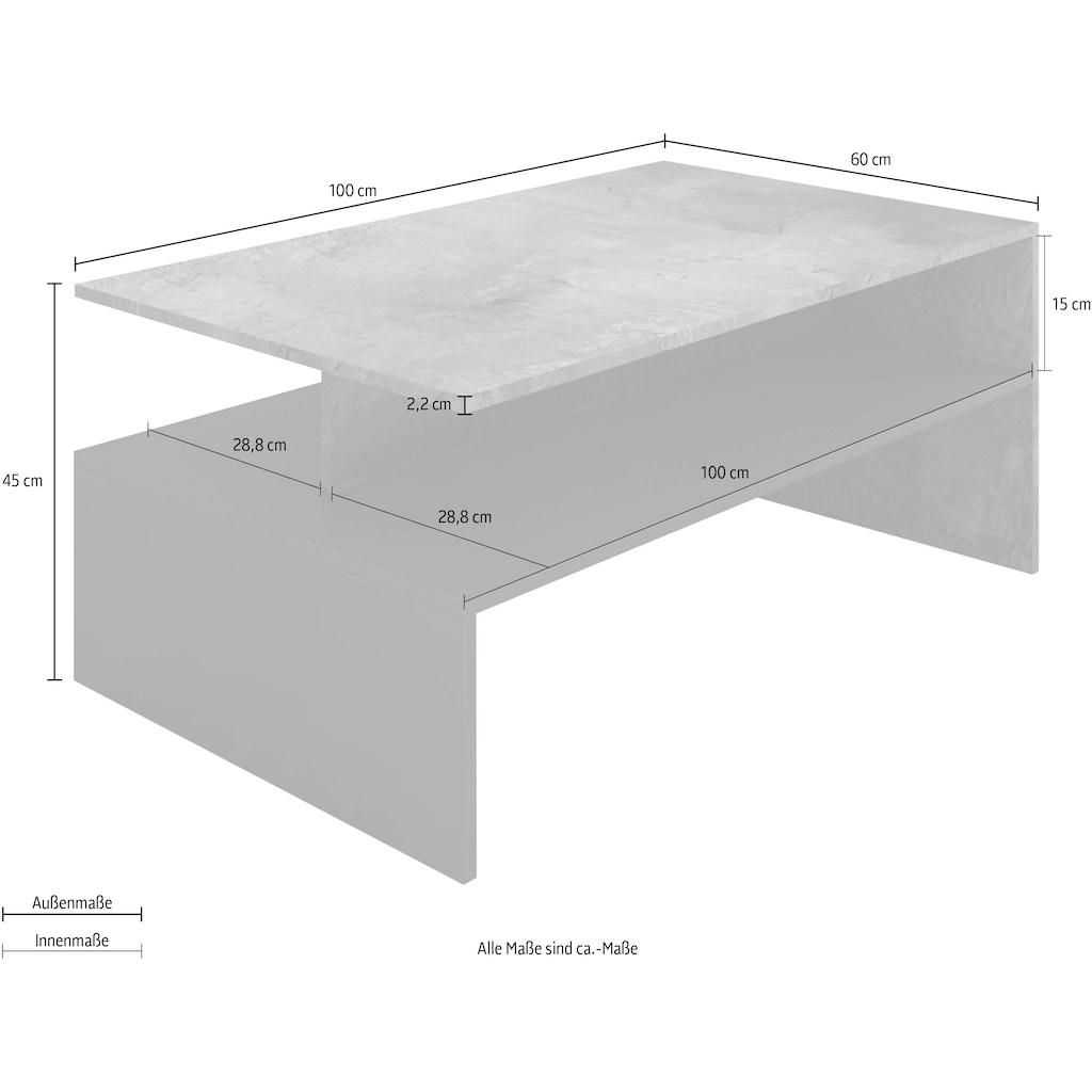 TRENDMANUFAKTUR Couchtisch, (100 x 60 xm)