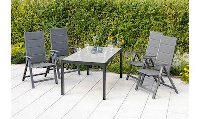 MERXX Diningset »Florenz«, 5 - tlg., 4x Klappsessel, Tisch 90x150 cm kaufen