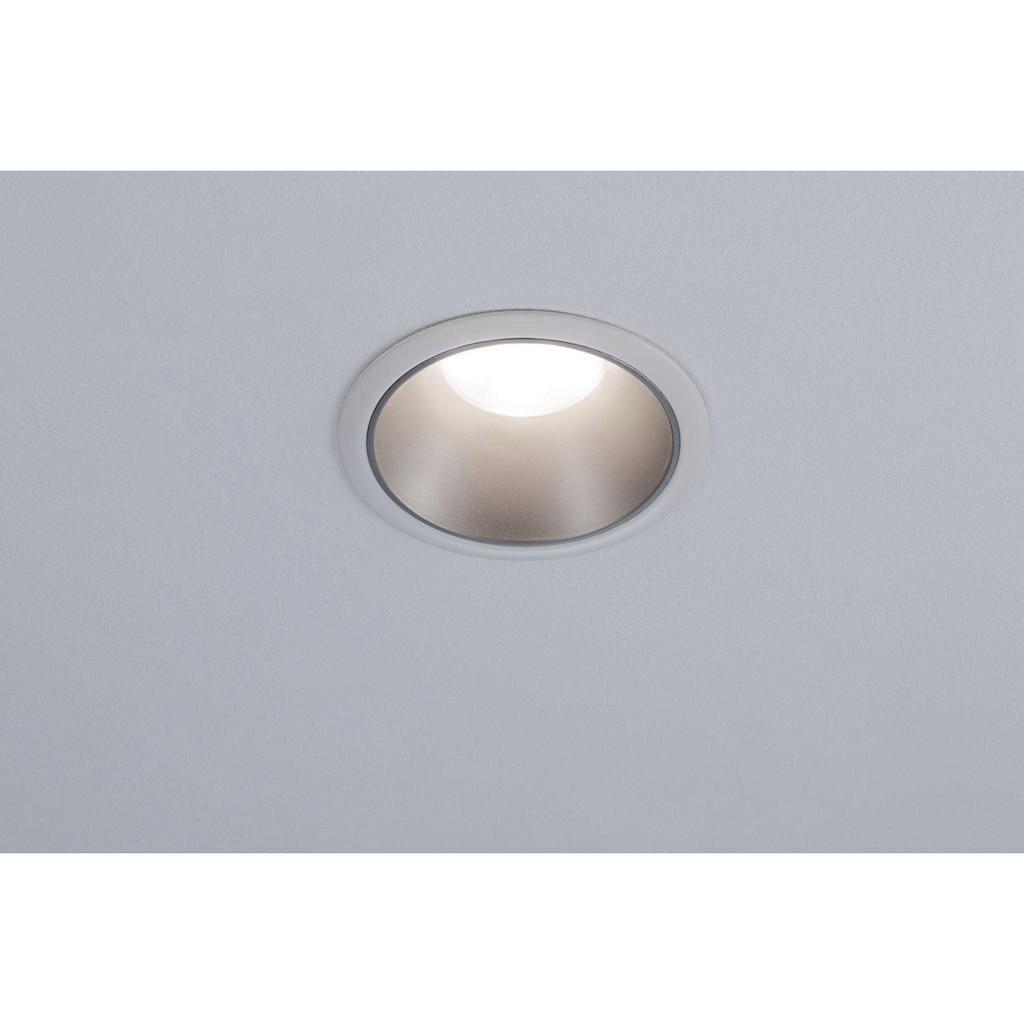 Paulmann LED Einbauleuchte »Cole 3x6,5W Weiß/Silber matt 3-Stufen-dimmbar 2700K Warmweiß«, Warmweiß, Deckenspots, 3er Set