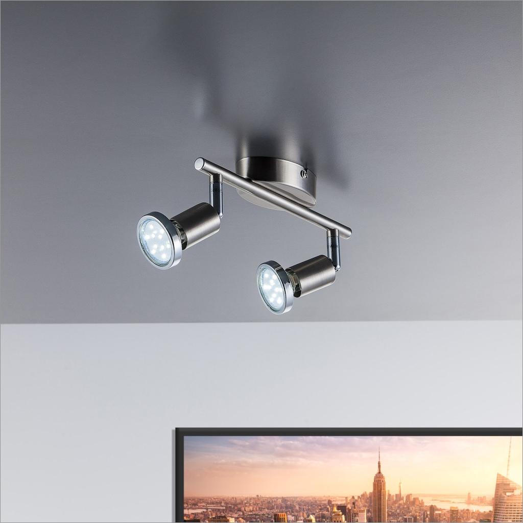 B.K.Licht LED Deckenspots »Mika 2«, GU10, Warmweiß, LED Deckenstrahler schwenkbar inkl. 3W GU10 250 Lumen Warmweiß Wandspot