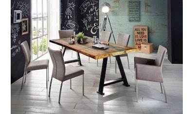 SIT Esstisch »Tops&Tables«, mit Platte aus recyceltem Altholz mit Farbresten, Shabby Chic, Vintage kaufen