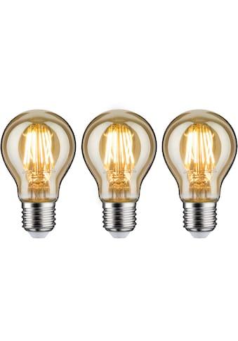 Paulmann LED-Leuchtmittel »3er Pack 6,5 W goldlicht«, E27, 3 St., Warmweiß kaufen