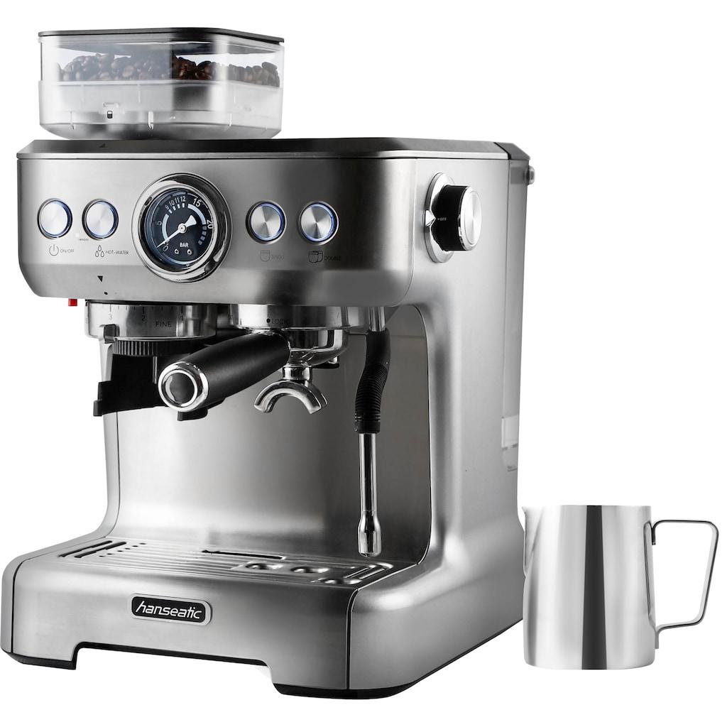 Hanseatic Siebträgermaschine »Espressomaschine 71578759«, inkl. Edelstahl-Milchkännchen