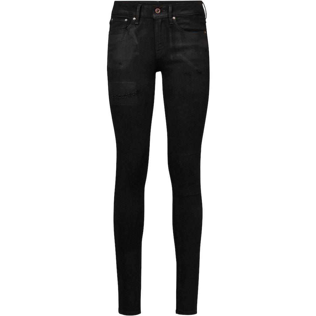 G-Star RAW Skinny-fit-Jeans »3301 Mid Skinny Jeans«, klassischen 5-Pocket-Design im authentischen Westernlook