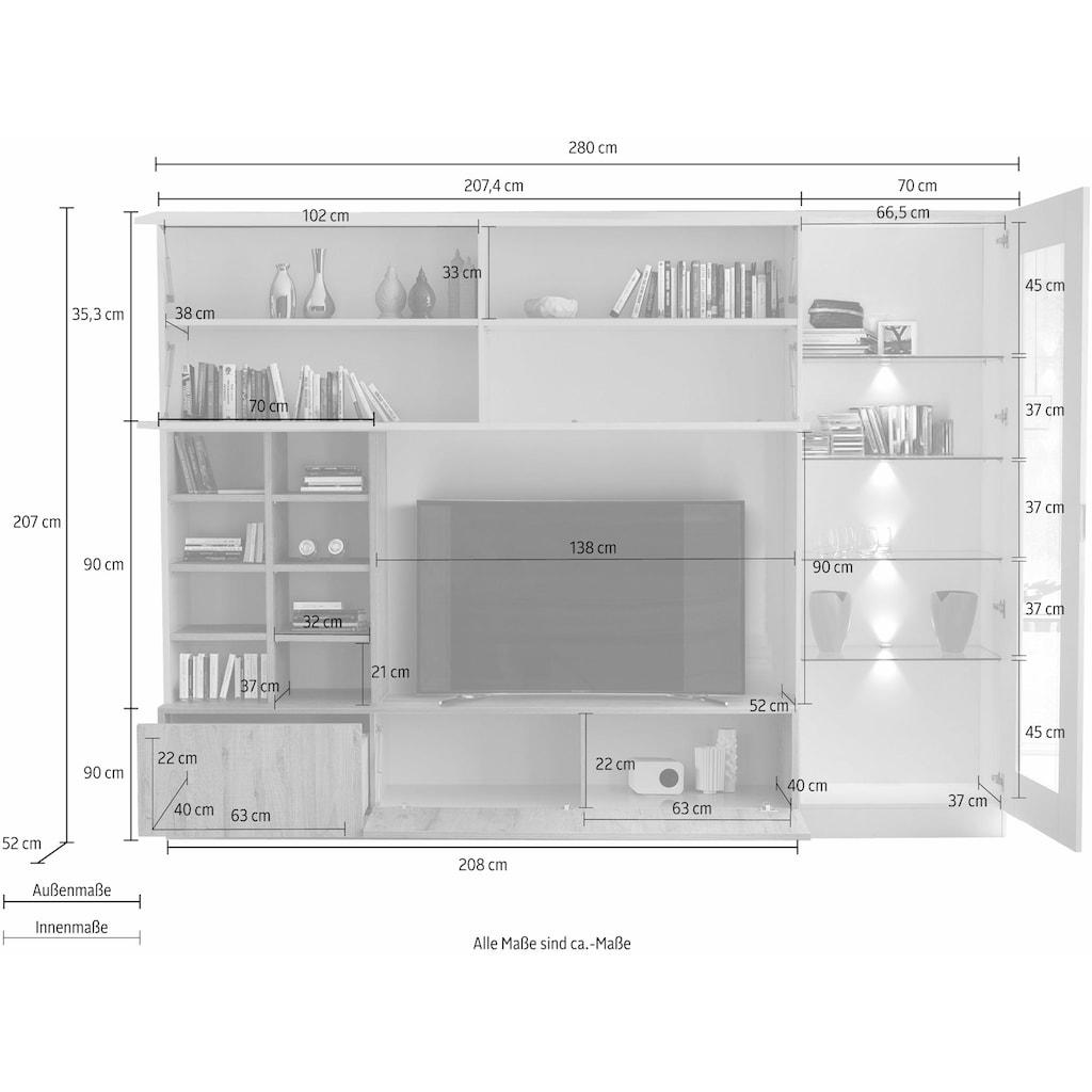 LC Wohnwand »Line Compact«