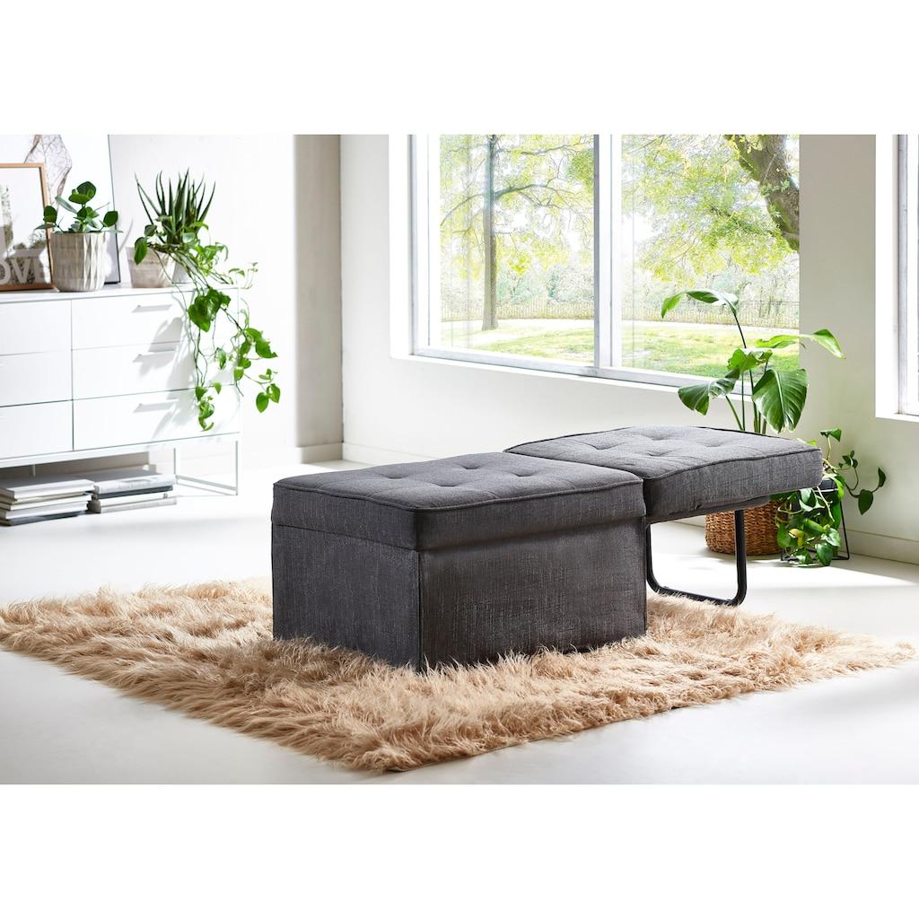 ATLANTIC home collection Schlafhocker, wandelbar zum Loungesessel, Relaxliege oder Gästebett